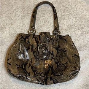 Coach Snakeskin Brown Bag